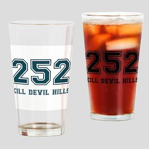 Kill Devil Hills Area Code Drinking Glass