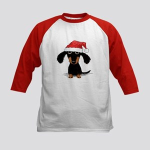 Doxie Clause Kids Baseball Jersey