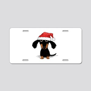 Doxie Clause Aluminum License Plate