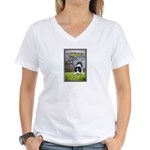 Border Collie Women's V-Neck T-Shirt