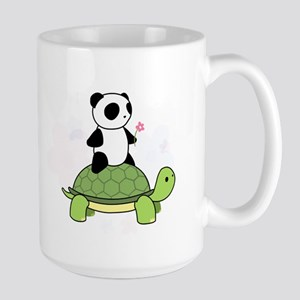 Turtle and Panda 1 Large Mug