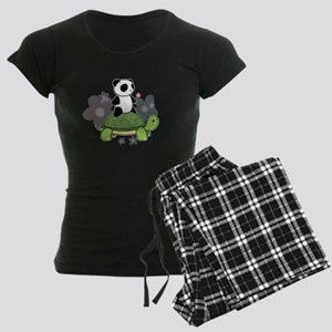 Turtle and Panda 1 Women's Dark Pajamas