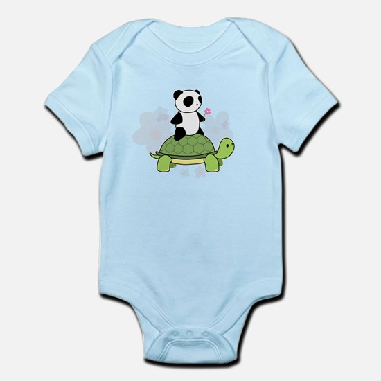 Turtle and Panda 1 Infant Bodysuit