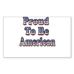 Proud to be American Sticker (Rectangle 10 pk)