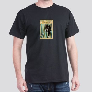 B/W Cat Dark T-Shirt