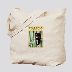 B/W Cat Tote Bag
