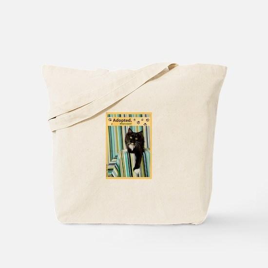B/W Cat Tote Bag