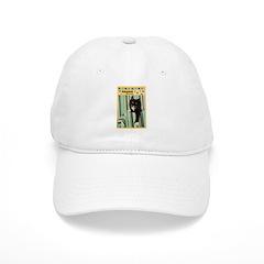 B/W Cat Baseball Cap