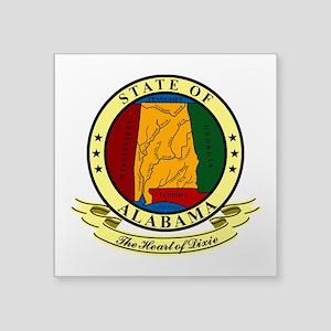 "Alabama Seal Square Sticker 3"" x 3"""