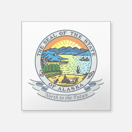 "Alaska Seal.png Square Sticker 3"" x 3"""