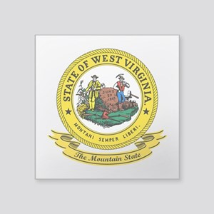 "West Virginia Seal Square Sticker 3"" x 3"""