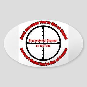 Bigshooterist Logo Sticker (Oval)