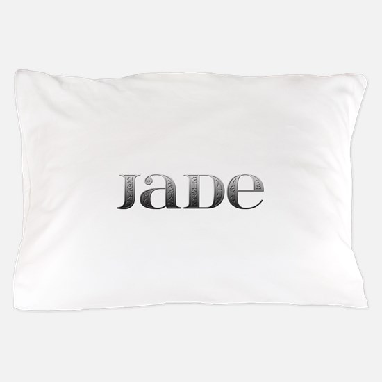 Jade Carved Metal Pillow Case