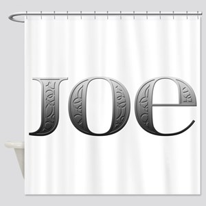 Joe Carved Metal Shower Curtain