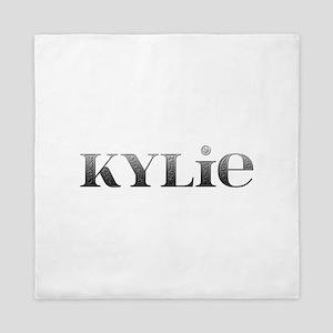 Kylie Carved Metal Queen Duvet