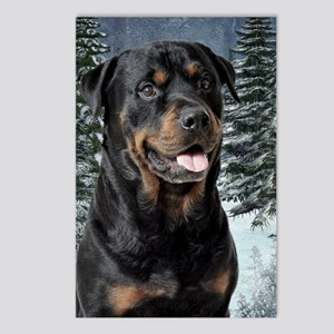 Rottie Xmas Postcards (Package of 8)