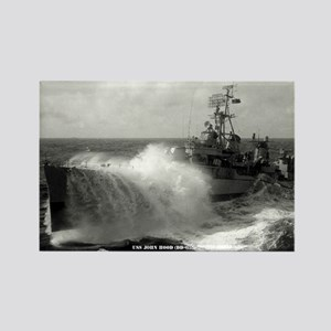 USS JOHN HOOD Rectangle Magnet