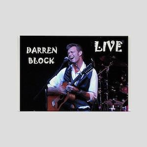 Darren Block Live Rectangle Magnet