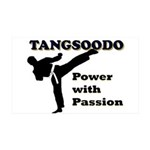 Tangsoodo Power with Passion 35x21 Wall Decal