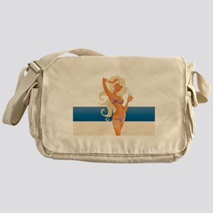 beach blondie Messenger Bag