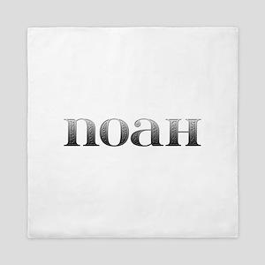 Noah Carved Metal Queen Duvet