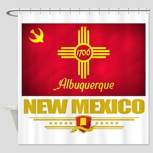 Albuquerque (Flag 10) Shower Curtain