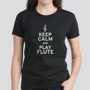 Keep Calm and Play Flute Women's Dark T-Shirt