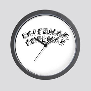 Halfrican American 2 Wall Clock