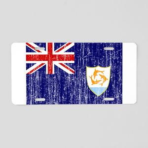 Anguilla Flag Aluminum License Plate