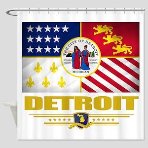 Detroit (Flag 10) Shower Curtain