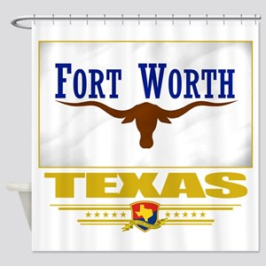 Fort Worth (Flag 10) Shower Curtain