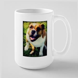Red English Bulldog Large Mug