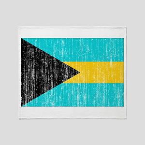 Bahamas Flag Throw Blanket
