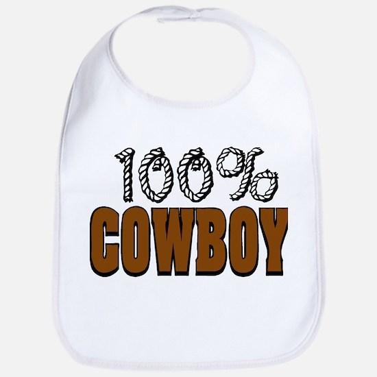 100% Cowboy Bib