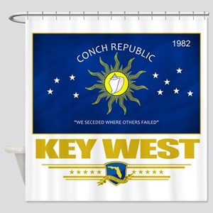 Key West (Flag 10) Shower Curtain