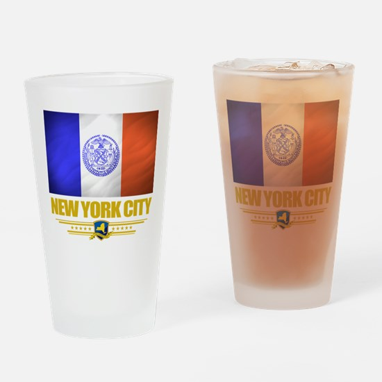 New York City (Flag 10).png Drinking Glass