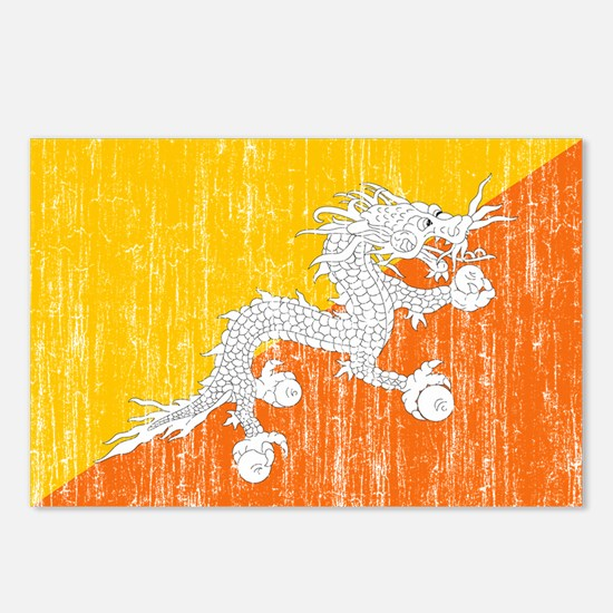 Bhutan Flag Postcards (Package of 8)