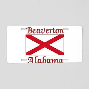 Beaverton Alabama Aluminum License Plate