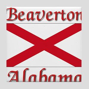 Beaverton Alabama Tile Coaster
