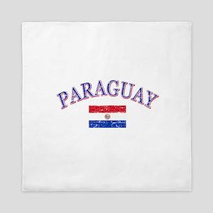 Paraguay Soccer designs Queen Duvet