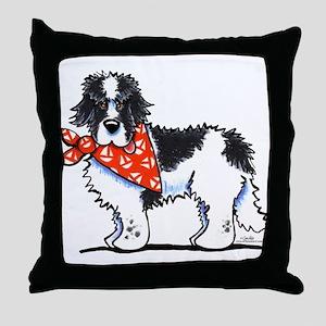 Landseer Newfie Sailor Throw Pillow