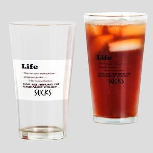 Life Sucks Drinking Glass