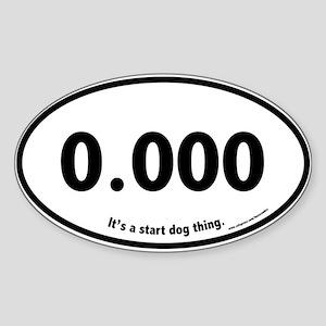 Triple Zero, 0.000, Flyball Oval Sticker