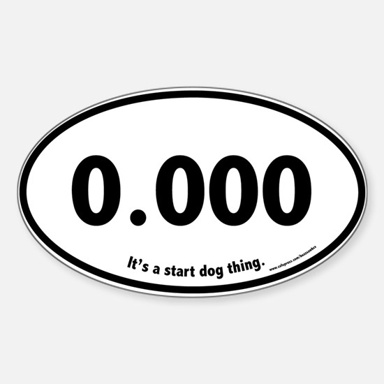 Triple Zero, 0.000, Flyball Oval Decal