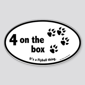 4 on the Flyball Box Oval Sticker