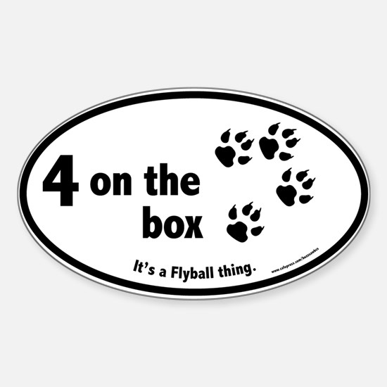 4 on the Flyball Box Oval Decal