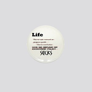 Life Sucks Mini Button