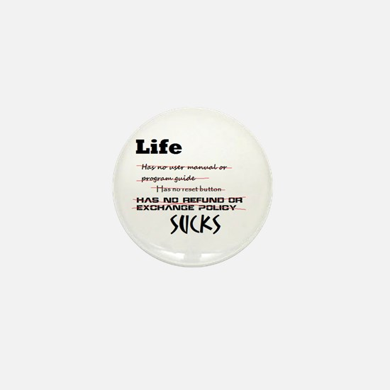 Life Sucks Mini Button