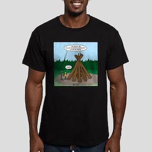 Knots Leave No Trace Bonfire Men's Fitted T-Shirt