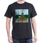 Knots Leave No Trace Bonfire Dark T-Shirt